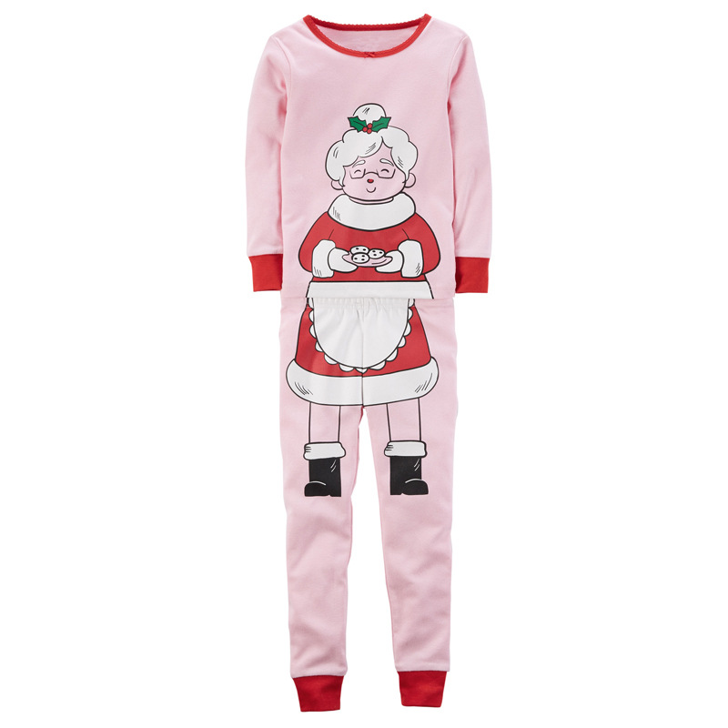 2017 New Christmas Kids Pajamas Sets Grandma Printed Christmas Pajamas Baby Girls Sleepwear Clothes Children Clothing Sets