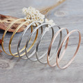 Kalen Fashion Multi-Strand Jewelry 7pcs/Lot Tri-Color Silver Color Gold Rose Gold Plated Stainless Steel Women Bangle Bracelet