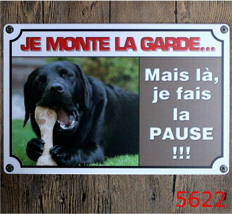 DOG printing Metal wall sticker Vintage Tin Painting House Tin Signs Painting Board HOUSE Decor Wall Sticker 20X30CM