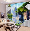 Customize 3d Curtains For Living Room Photo Fairy Lake Face Mountain Fairyland 3d Stereoscopic Pattern Blackout