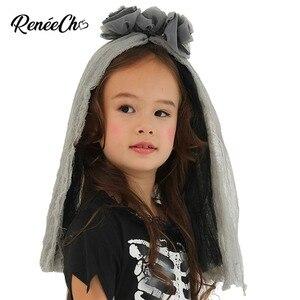 Image 4 - Trajes de halloween para crianças vestidos de fantasia meninas esqueleto traje da noiva criança ossos traje menina fantasma preto vampiro cosplay