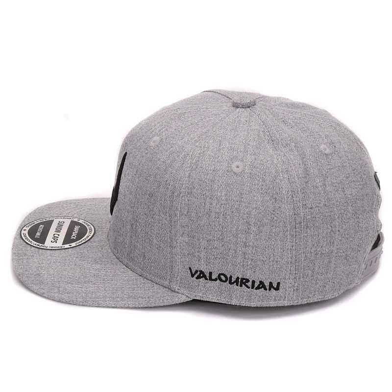 e6f1ae9c0a725 ... De alta calidad de lana gris snapback 3D perforado bordado de hip hop  gorra plana de ...