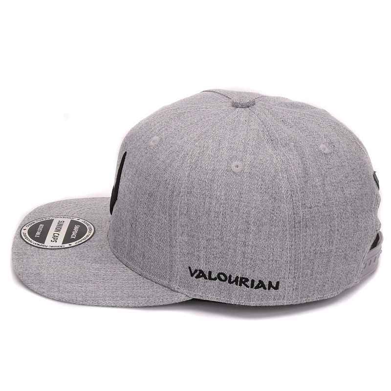 ... De alta calidad de lana gris snapback 3D perforado bordado de hip hop  gorra plana de ... 5a3a6186c0d