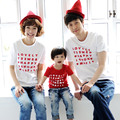 Children summer 2017 Korean version mother father baby T-shirt family wear couples clothes parent-child Beach tshirts
