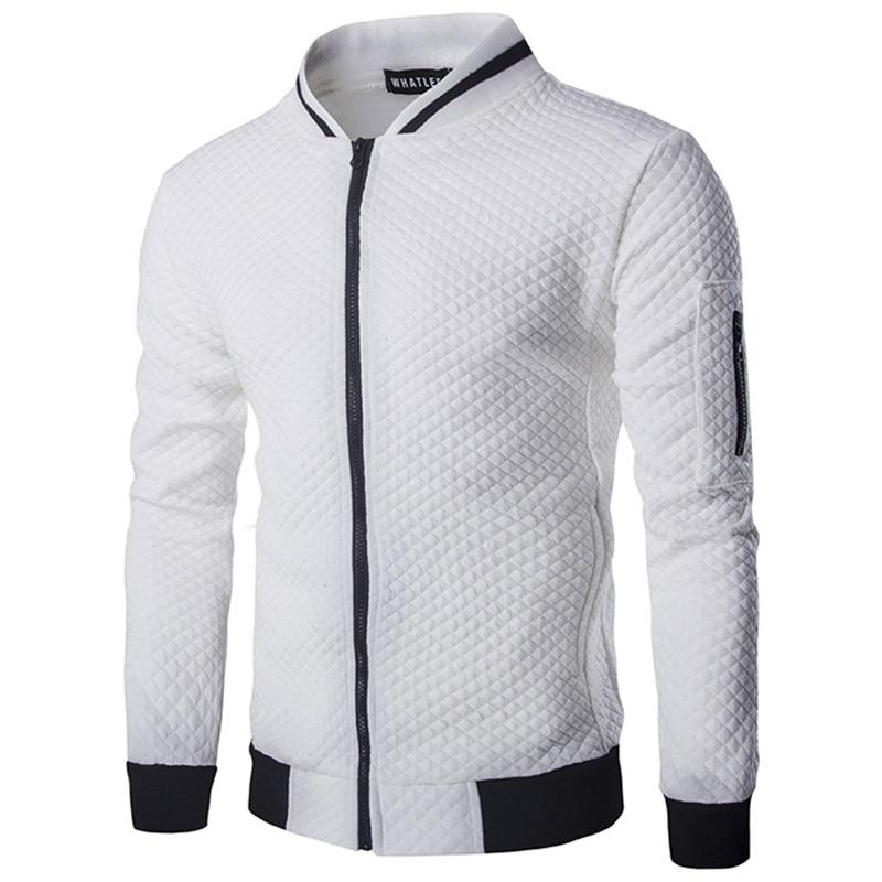 New Arrivals winter men's jackets Bump color argyle boutique cotton jacket fashion social men Hoodies coat Loose big size S-XXL