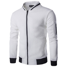 New Arrivals winter mens jackets Bump color argyle boutique cotton jacket fashion social men Hoodies coat Loose big size S-XXL