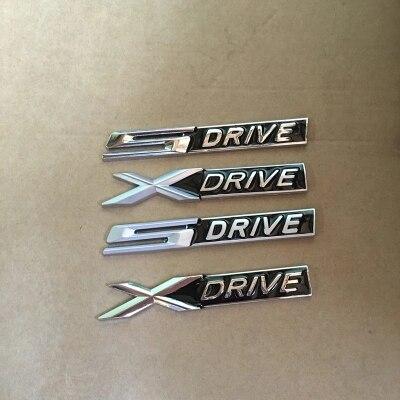 1 х Черная металлическая хромированная 3d-эмблема Xdrive X drive Sdrive S, наклейка-эмблема для 3, 4, 5, 6, 7 серии X1, X3, X5, E70, X6, E71