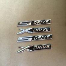 1x 3d preto metal chrome mate xdrive x drive sdrive s drive emblema adesivo decalque para 3 4 5 6 7 series x1 x3 x5 e70 x6 e71