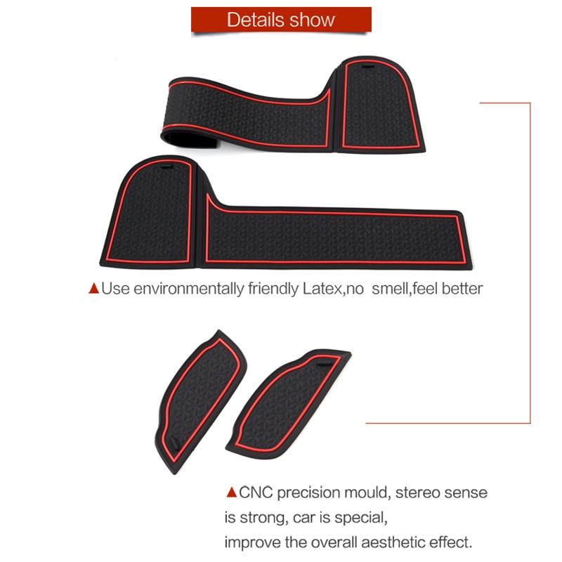 Image 2 - FIT FOR Mitsubishi Eclipse Cross 2017 2018 2019 Interior Door Car Storage Box Pad Car Water Mats Mats Car Door Gap Pad Mat