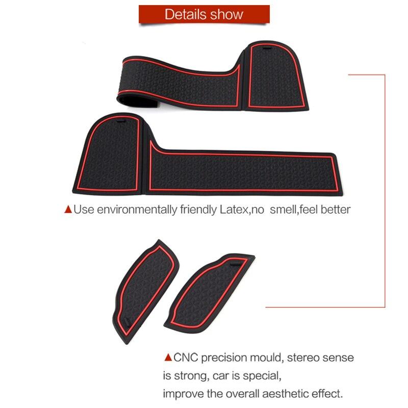 Image 2 - FIT POUR Mitsubishi Eclipse Croix 2017 2018 2019 Intérieur Porte Boîte De Stockage De Voiture Deau de Voiture de Tapis Tapis De Voiture Porte gap Pad Tapis    -