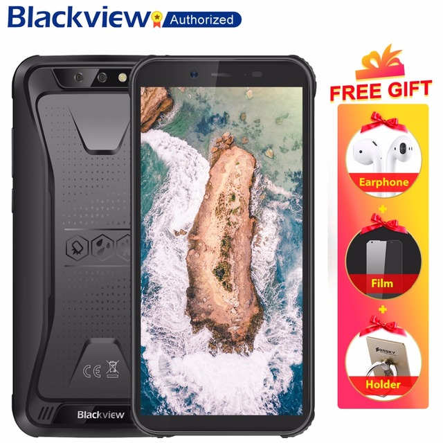 "Blackview BV5500 IP68 Waterproof Smartphone 5.5"" Screen 2GB RAM 16GB ROM Android 8.1 MTK6580P Quad Core 1.3GHz 8MP Unlock 3G OTG"