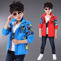 3-10years New Spring and Autumn Children Outerwear Coat Sport Kids Clothes Double-deck Waterproof Windproof Baby Boys Jackets