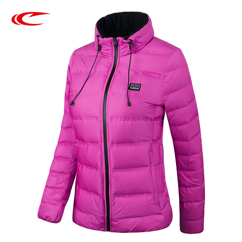 SAIQI New Ultra Thick Light White Duck Down Jacket Slim Women Winter Autumn Sport Hiking Coat 256768 saiqi 2017 new winter warm light down women ultra light 80% white duck down jacket short hiking outer coat female jacket 1016