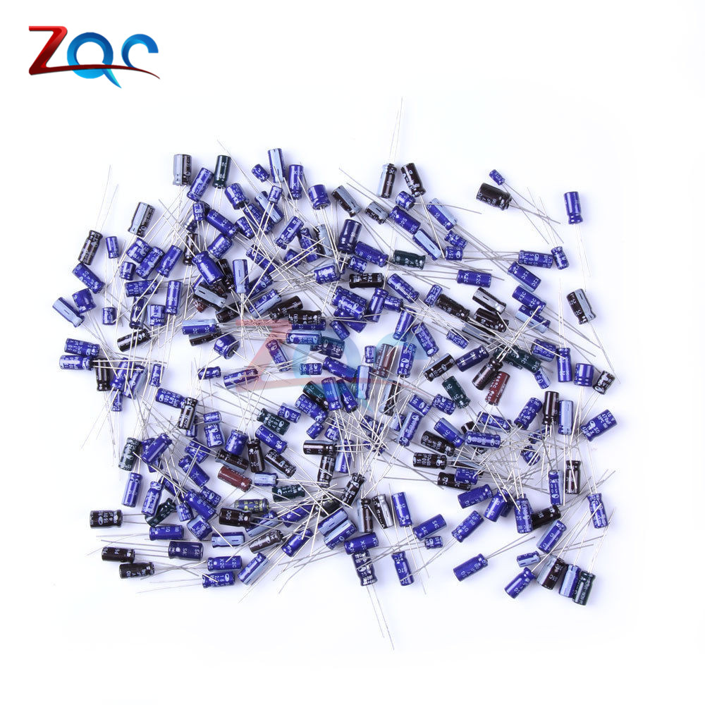 210Pcs 25 Werte 0,1 uF-220 uF Aluminium-elektrolytkondensator Kondensator Sortiment kit set pack