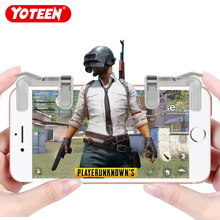 Yoteen Gold Finger Mobile Phone Metal Physical Joystick Fire Button Aim Key Buttons GOLD L1 R1 Trigger Transparent Silver