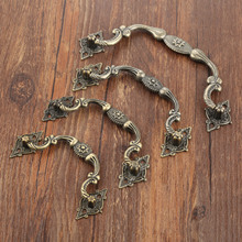 1Pc Antique Furniture Handles Cabinet Knobs and Handles Drawer Cabinet Kitchen Pull Cupboard Handle Furniture Hardware wholesale antique hardware brass cabinet handle vintage drawer handles and knobs door pull bat decorative furniture fittings