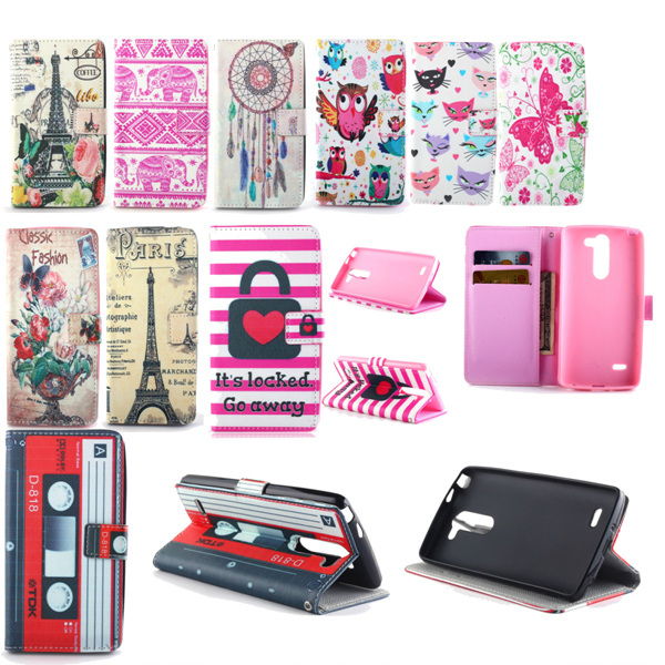 new product 3714c 0091f US $4.99 |OwlS Butterfly locked heart flip Leather Wallet Case Card Holder  Stand Cover Cases For LG Leon 4G H340N C40 / LG Tribute 2 on Aliexpress.com  ...