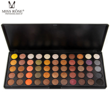 Miss Rose 1pc Shimmer Matte Eye Shadow 55 Colors Professional Makeup Palette Smoky Nude Eyes Highlight Cosmetic Tools