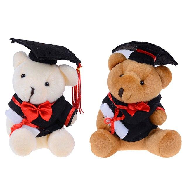 1pc 13cm cute graduation Teddy bear plush toy cartoon good quality Dr.bear dolls stuffed soft toys for children kids gift Uncategorized Decoration Stuffed & Plush Toys Toys