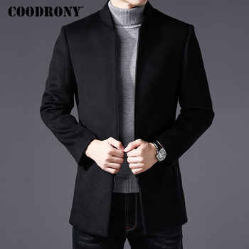 COODRONY Men Coat Winter Thick Warm Wool Coat Men Clothes 2019 Slim Fit Coat Mandarin Collar Jacket Mens Overcoat Mens Coats C03 - DISCOUNT ITEM  49% OFF All Category