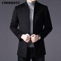 COODRONY Men Coat Winter Thick Warm Wool Coat Men Clothes 2018 Slim Fit Coat Mandarin Collar Jacket Mens Overcoat Mens Coats C03