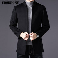 COODRONY Men Coat Winter Thick Warm Wool Coat Men Clothes 2018 Slim Fit Coat Mandarin Collar Jacket Mens Overcoat Mens Coats C03