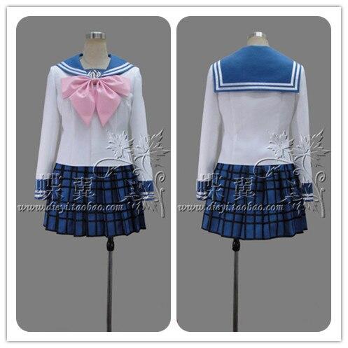 Super Dangan Ronpa 2 Danganronpa Maizono Sayaka Cosplay Costume Lolita School Uniform tops+skirt+tie Full Set