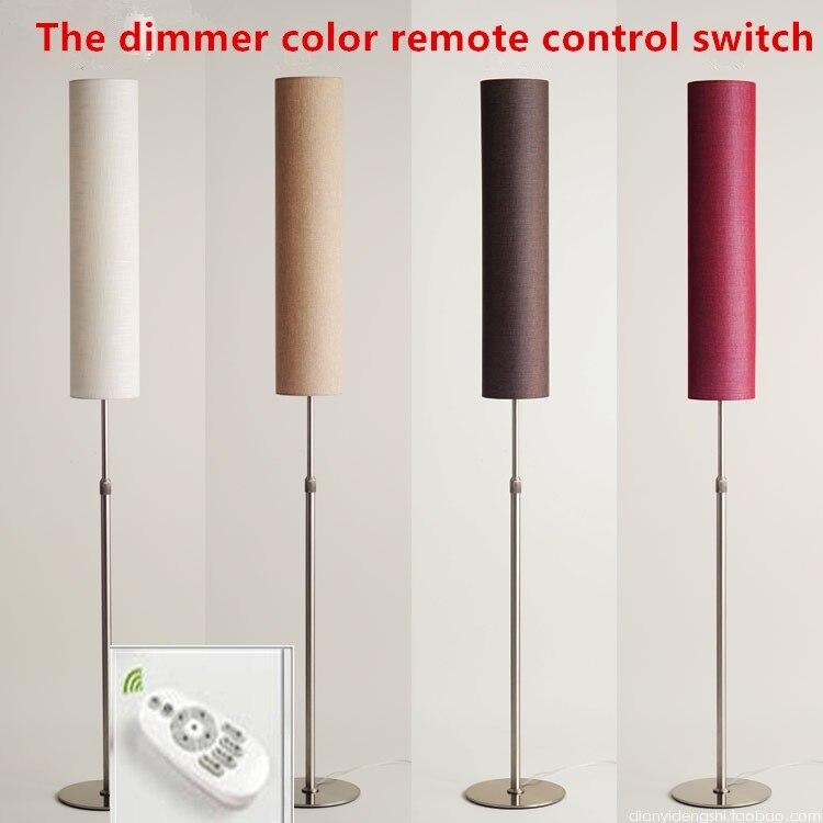 Lampadaire LED lampe nordique hauteur réglable à distance 130-180 cm acier inoxydable matériau et vêtement éclairage intérieur Vertical
