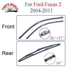 Combo Silicone Rubber Windscreen Front And Rear Wiper Blades For  Ford Focus 2,2004-2011, Wipers Car Accessories