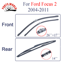 Combo Silicone Rubber Windscreen Front And Rear Wiper Blades For Ford Focus 2 2004 2011 Wipers