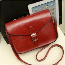Ретро модные сумки высокого качества Искусственная кожа Для женщин сумка корейской версии кожи масло на ремне большой емкости женская сумка