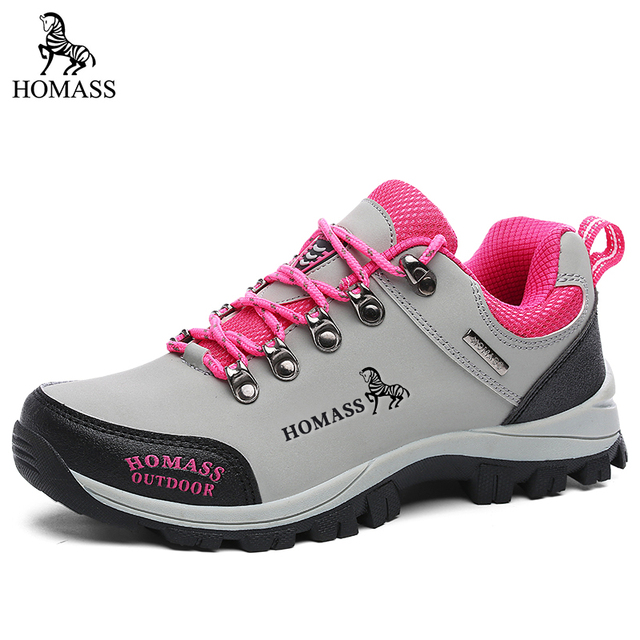 HOMASS Unisex Cheape Mens Mountain Hiking Shoes for Women Male Climbing Female Outdoor Trekking Size 36-45
