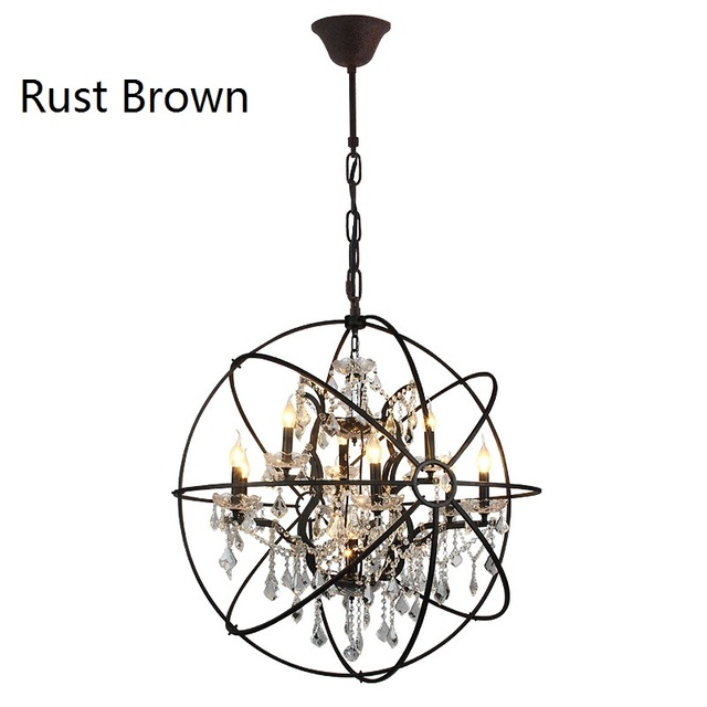 D78cm american country vintage black chandelier bedroom k9 crystal d78cm american country vintage black chandelier bedroom k9 crystal chandelier lighting iron cage crystal lo lights mozeypictures Gallery