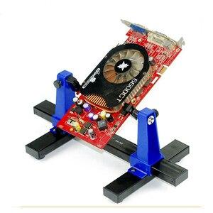 Image 1 - SN 390 العالمي قابل للتعديل لوحة دوائر كهربائية المشبك PCB حامل تركيبات لحام مساعد المشبك لإصلاح رقائق ميل اللوحة