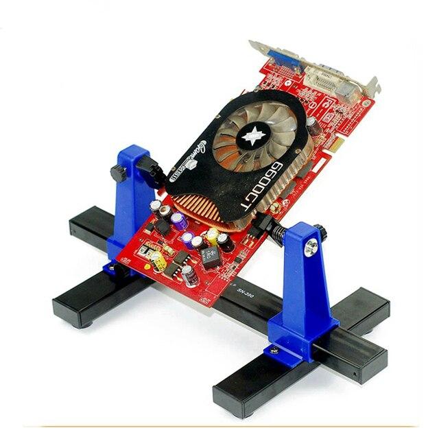 SN 390 العالمي قابل للتعديل لوحة دوائر كهربائية المشبك PCB حامل تركيبات لحام مساعد المشبك لإصلاح رقائق ميل اللوحة