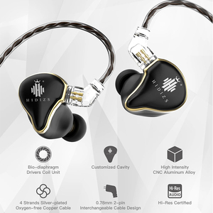 Image 3 - Hidizs Meerjungfrau MS1 HiFi Audio Patentierte Dynamische Membran In ohr Monitor kopfhörer IEM mit Abnehmbare Kabel 2Pin 0,78mm Stecker