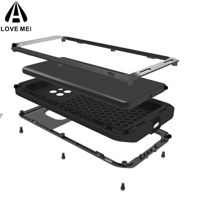 Love Mei กรณีอลูมิเนียมสำหรับ Huawei Mate 20 Pro กันกระแทก 360 ป้องกันสำหรับ Huawei Mate 20/Mate 20 Lite