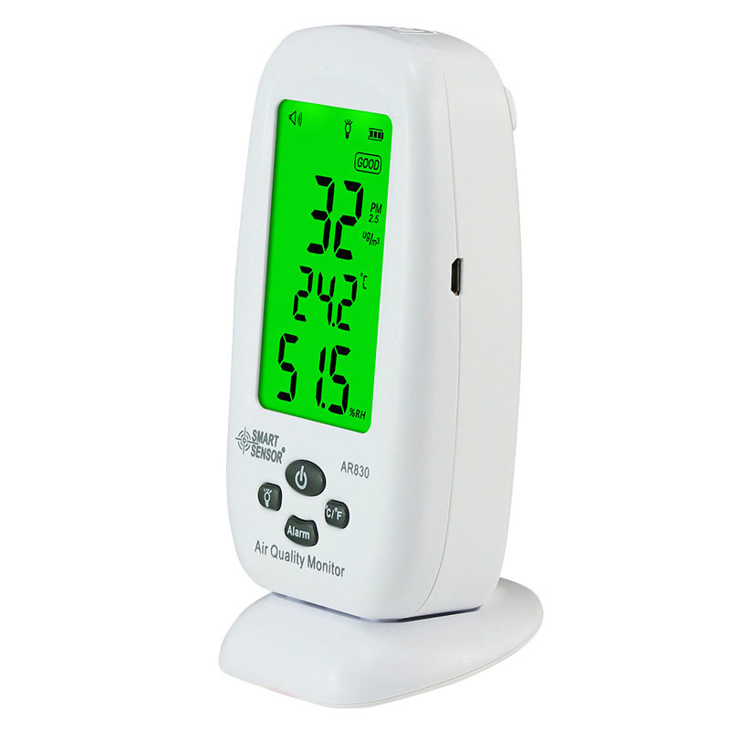 Digital Air Quality Monitor PM2.5 Detector Smart Sensor AR830 Temperature Humidity Thermometer Hygrometer az 7788 desktop co2 temperature humidity monitor data logger air quality detector