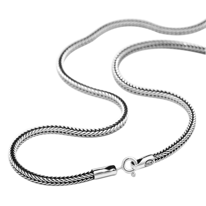 Real Pure 925 Sterling Silver Necklace