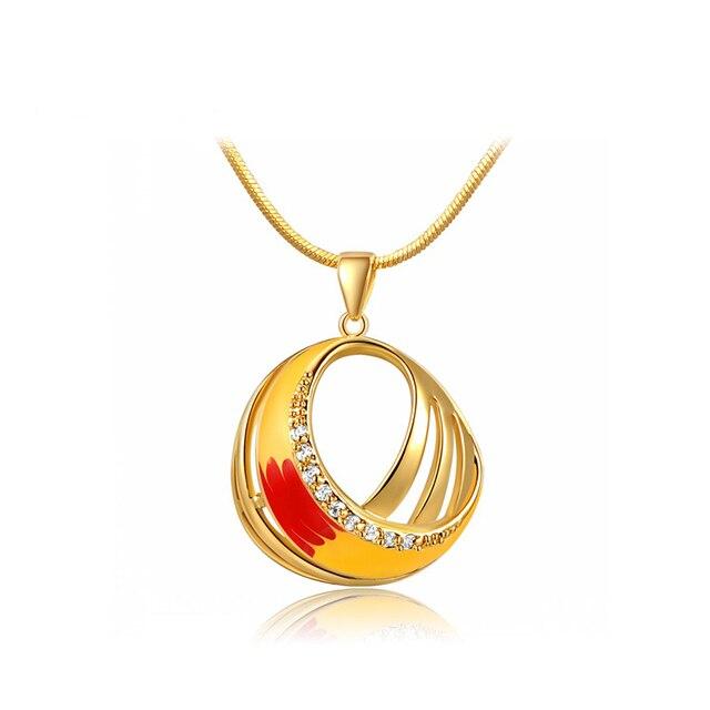 3f7284ea7a06 T.n 1983 amarillo esmalte con diamantes de imitación grandes colgantes  collares mujeres accesorios collar collar