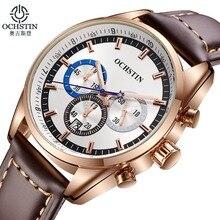 2016 Marque De Luxe OCHSTIN Quartz casual Montres Hommes chronographe Horloge Sport Militaire Bracelet De Mode Montre-Bracelet Relogio Masculino