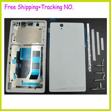 Original Complete Housing Cover case For Sony Xperia Z L36H LT36i LT36H C6603 C6602 Housingl +Side Buttons+LOGO, Free Shipping