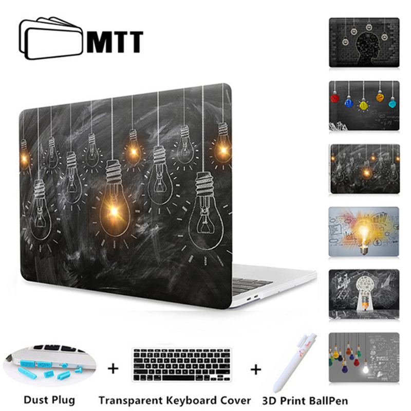 MTT Laptop Case For Apple Macbook Air Pro Retina 11 12 13 15 Touch bar Light Bulb Printed Cover for mac book 12 inch Hard Case mtt flowers crystal hard case for apple macbook air pro retina 11 12 13 15 floral cover for mac book pro 13 3 inch laptop sleeve