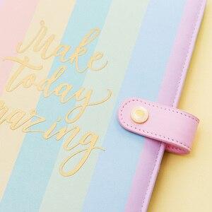 Image 4 - Lovedoki Rainbow Spiral Binder Notebook 2020 Planner A5 Organizer Diary Cute A6 Dokibook Agenda School Supplies Stationery Store