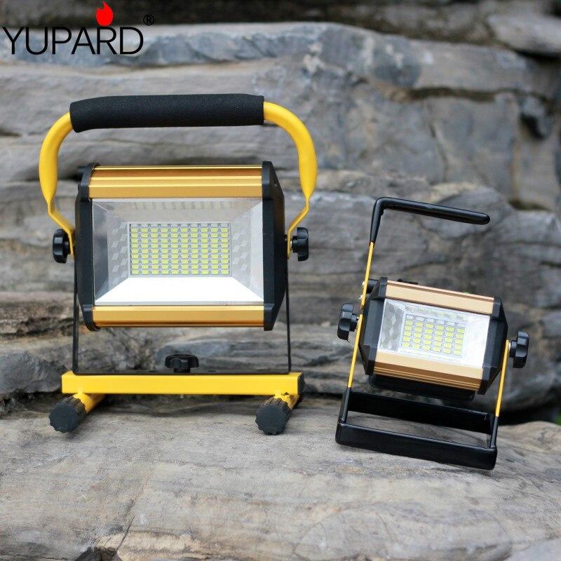 все цены на YUPARD 100W 50W flood light Searchlight Spotlight Brightness led flashlight Outdoor camping 18650 rechargeable battery charger онлайн