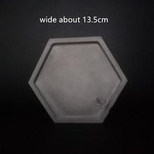 Hexagon Cement flowerpot vase holder tray mold Handmade Gardening pot decorating concrete planter silicone