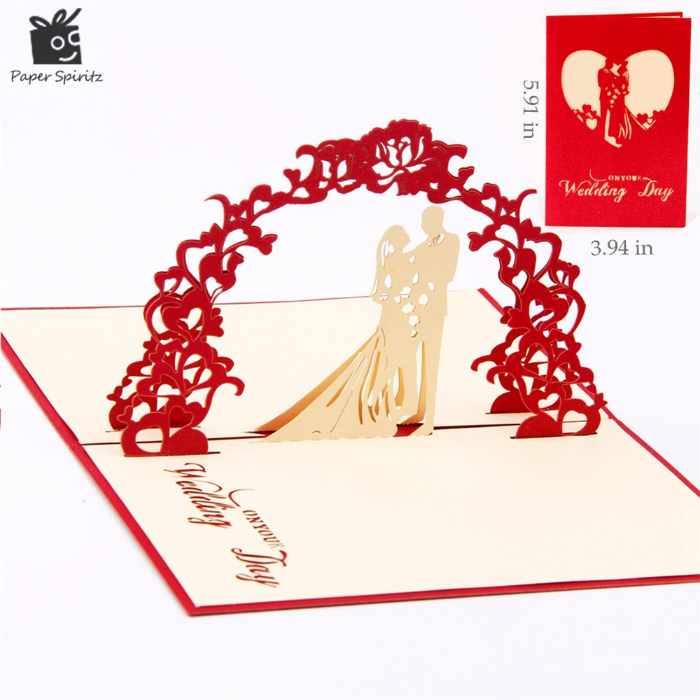 Sweety wedding invitation 3D laser cut paper cutting Greeting Pop Up Kirigami Card Custom postcards Wishes Gifts for lover 1009 creative gifts 3d pop up card greeting