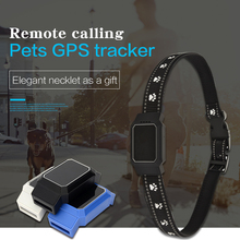 Pet Smart Mini GPS Tracker Collar For Pet Dogs Cats Tracing Locator GPS Tracking Device Anti-Lost Tracer mini waterproof smart gps mini tracker with collar for pets cats dogs 4 frequency gprs gps lbs dual location with app
