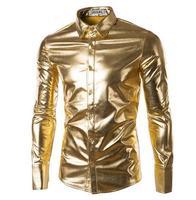 Для мужчин сплошной цвет осенние и зимние Модная рубашка Для мужчин футболка с длинными рукавами в Корейском стиле Стройная дикая-футболки ...