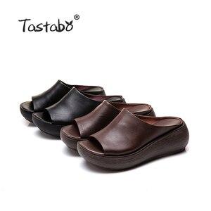 Image 5 - Tastabo 2019 קיץ גבירותיי כפכפים חוף נעלי בציר אומנות פנאי סגנון עבה סולית נעליים יומיומיות נוח 40